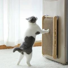 고양이 캣닢첨가 스크래쳐 장난감 벽걸이 골판지 매트