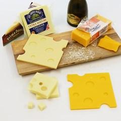[리본제이]치즈 실리콘 냄비받침 매트 미끄럼방지 패드