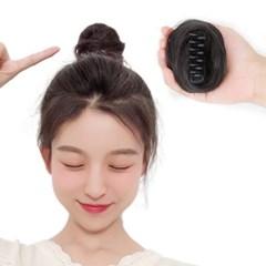 볼 케치 여자 올림머리 당고머리 똥머리 가발 집게핀_(2482087)