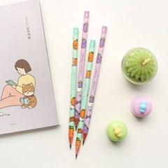 핑크풋 당근 친구들 연필(4본)