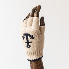 LW ANCHOR FINGERLESS GLOVES (ivory)