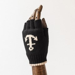 LW ANCHOR FINGERLESS GLOVES (black)