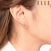 14K 크로스 큐빅 원터치 귀걸이 (gold pin) ELGPEE264_(1046160)