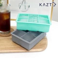 파스텔 실리콘 아이스큐브 원형 얼음틀 사각 6구 1+1