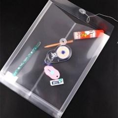 하도메 PVC 파우치 봉투 A6/A4 [반투명 파일 스티커 떡메 포카 보관]