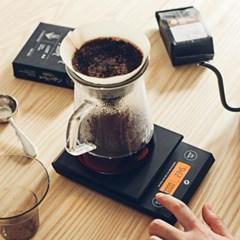 [칼딘] 타이머 커피 계량 저울 드립스케일 1kg (2종/택1)