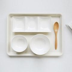 화이트 투톤 1인 혼밥 식기세트