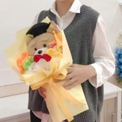 학사모 테드 인형 꽃다발