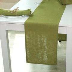 [나산] 테이블러너 마100% RN813-16 오가닉그린 협탁용(120x28cm)