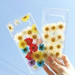 생화 압화 드라이플라워 휴대폰케이스 갤럭시 S10 플러스 S10e 노트8