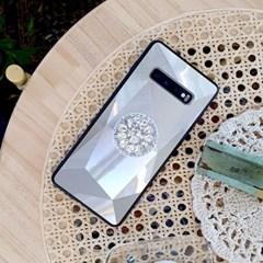 3D 실버 홀로그램 큐빅 그립톡 범퍼 케이스 갤럭시/아이폰