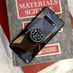 3D 블랙 홀로그램 큐빅 그립톡 범퍼 케이스 갤럭시/아이폰