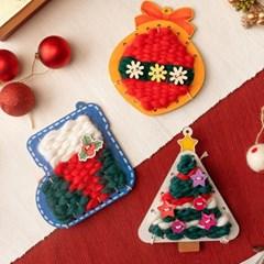 민화샵 겨울 크리스마스 만들기 위빙키트