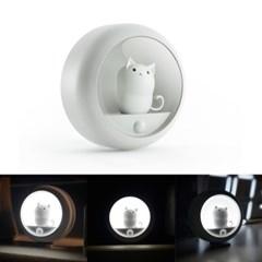 OMT 자석부착식 충전식 무선 고양이 LED 동작감지 센서등