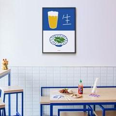 생맥주와 깍지콩 생맥9 M 유니크 인테리어 디자인 포스터 식당