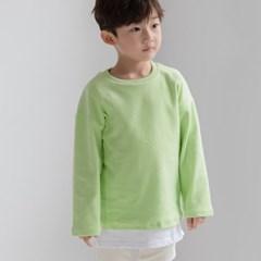 화) 파스텔 피치기모 아동 티셔츠-주니어까지