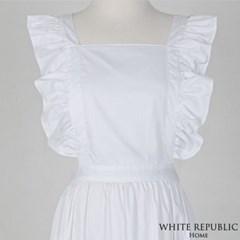 샬렛 러플 앞치마 Charlet Ruffle Apron White