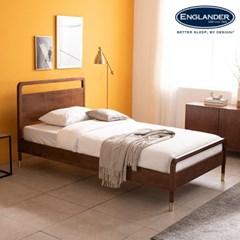 라벤나 고무나무 원목 침대(DH 본넬스프링 서포트 매트-SS)