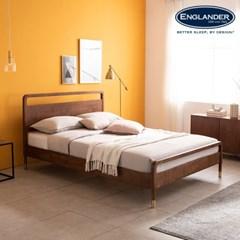 라벤나 고무나무 원목 침대(NEW E호텔 양모 라텍스 7존 독립매트-Q)