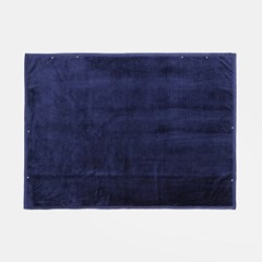 포근한 똑딱이 망토 담요(100x140cm) (네이비)