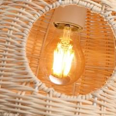 LED 펜던트 베틀 2등 내추럴우드 라탄 카페 매장조명_(1965147)