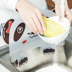 팬더 베어 싱크대 물튀김 방지대 주방 선반 물막이