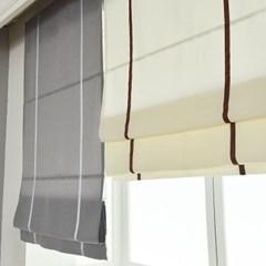 포인트 3색 암막 로만쉐이드 창문 거실 블라인드 커튼