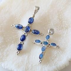 블루 오팔 십자가 목걸이