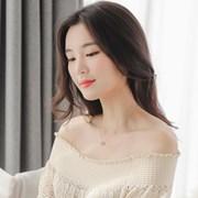 제이로렌 G0213 14K 큐빅 핑크골드 목걸이_(1176342)