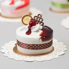 초코 시럽 케이크 모형