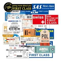 트래블 캠핑 노트북 여행가방 데코스티커- 항공사 보당패스 - 30매