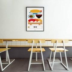 초밥 정식 M 유니크 인테리어 디자인 포스터 일식당 스시