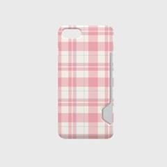 빈티지체크 디자인 카드수납케이스 핸드폰케이스