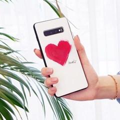 더블하트 글라스 범퍼 휴대폰케이스 갤럭시/아이폰