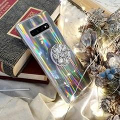 파티퀸 홀로그램 큐빅 그립톡 스마트톡 휴대폰케이스 갤럭시/아이폰