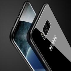 블랙 글라스 범퍼 휴대폰케이스 갤럭시/아이폰