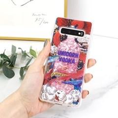 유니콘 움직이는 액체 글리터 휴대폰케이스 갤럭시/아이폰