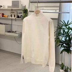 가을 남자 LOGAN로건 루즈핏 반목 폴라 터틀넥 컬러 니트 스웨터