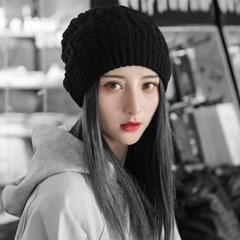 루즈핏 겨울 롱 비니(블랙)
