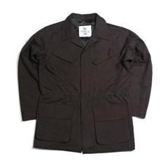 가을 남자 루즈핏 왁스 퍼티그 카키 브라운 정장 야상자켓