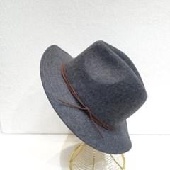 리본끈 데일리 심플 기본 패션 챙넓은 페도라 모자