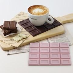 [리본제이]초콜릿 실리콘 냄비받침 매트 미끄럼방지 패드
