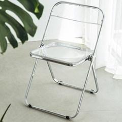 클리어 아크릴 메탈 의자