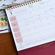 2021 Color Press Calendar (프레스 라인이 있는 데스크 달력)