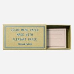 Color memo paper
