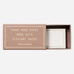 Frame memo paper