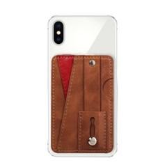 스마트폰 부착형 카드홀더(브라운)