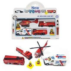 NEW 4P 경찰소방세트/경찰미니카/소방미니카/자동차완구