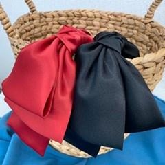 왕리본 연예인 패션 두꺼운 헤어밴드 머리띠