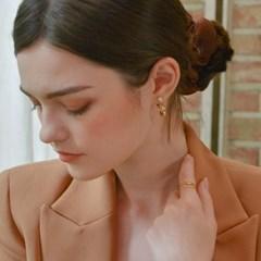 [한지현 착용] 벨르 스톤 링 귀걸이